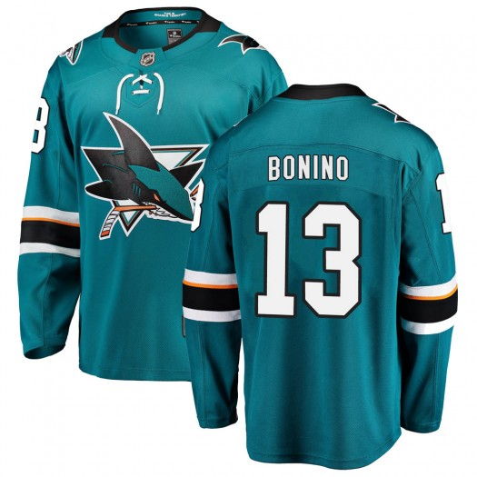 Nick Bonino San Jose Sharks Youth Fanatics Branded Teal Breakaway Home Jersey