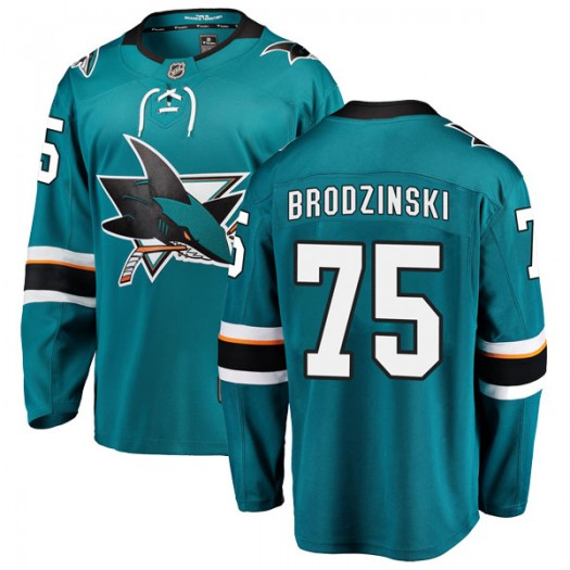Michael Brodzinski San Jose Sharks Youth Fanatics Branded Teal Breakaway Home Jersey
