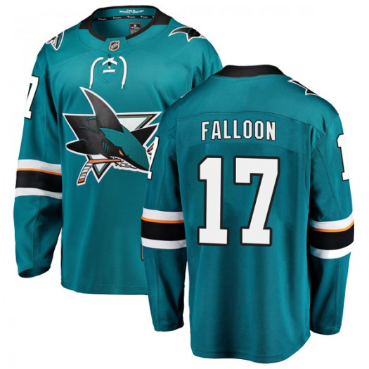Pat Falloon San Jose Sharks Youth Fanatics Branded Teal Breakaway Home Jersey
