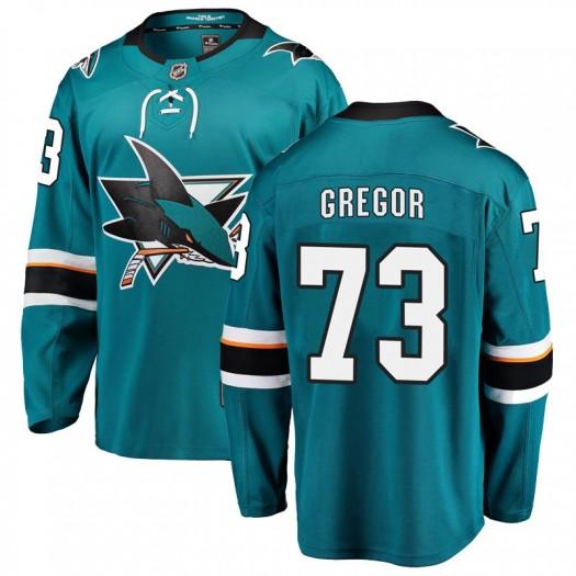 Noah Gregor San Jose Sharks Youth Fanatics Branded Teal Breakaway Home Jersey