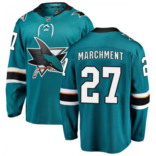 Bryan Marchment San Jose Sharks Youth Fanatics Branded Teal Breakaway Home Jersey