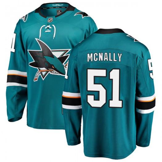 Patrick McNally San Jose Sharks Youth Fanatics Branded Teal Breakaway Home Jersey
