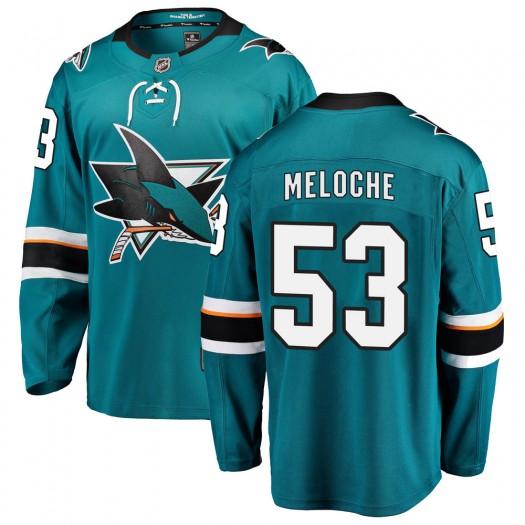 Nicolas Meloche San Jose Sharks Youth Fanatics Branded Teal Breakaway Home Jersey