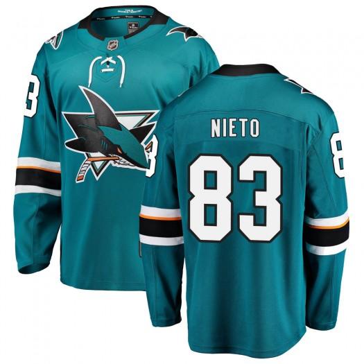 Matt Nieto San Jose Sharks Youth Fanatics Branded Teal Breakaway Home Jersey