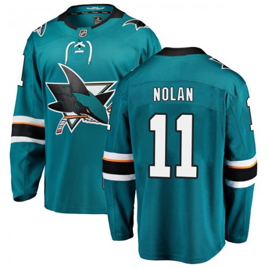 Owen Nolan San Jose Sharks Youth Fanatics Branded Teal Breakaway Home Jersey