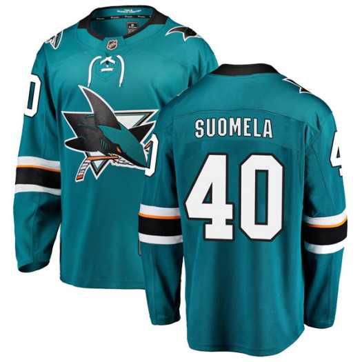 Antti Suomela San Jose Sharks Youth Fanatics Branded Teal Breakaway Home Jersey