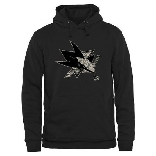 San Jose Sharks Men's Black Rink Warrior Pullover Hoodie