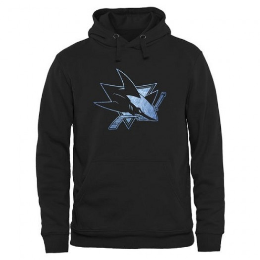 San Jose Sharks Men's Black Rinkside Pond Hockey Pullover Hoodie