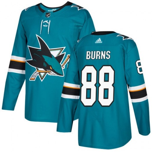 Brent Burns San Jose Sharks Youth Adidas Authentic Green Teal Home Jersey